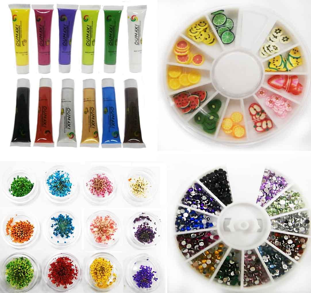 Рисунок на ногтях краской для начинающих фото