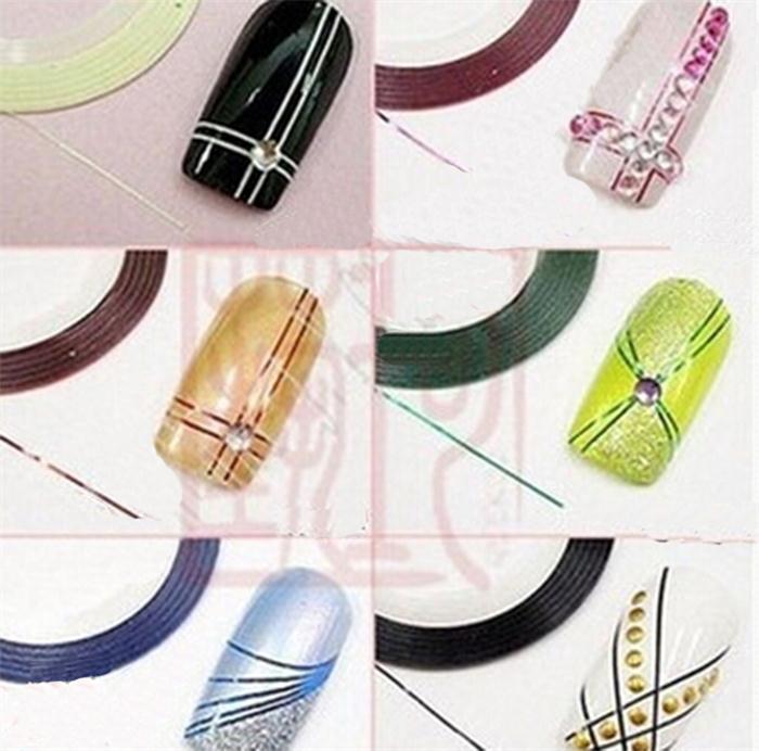 Дизайн ногтей с помощью ленты